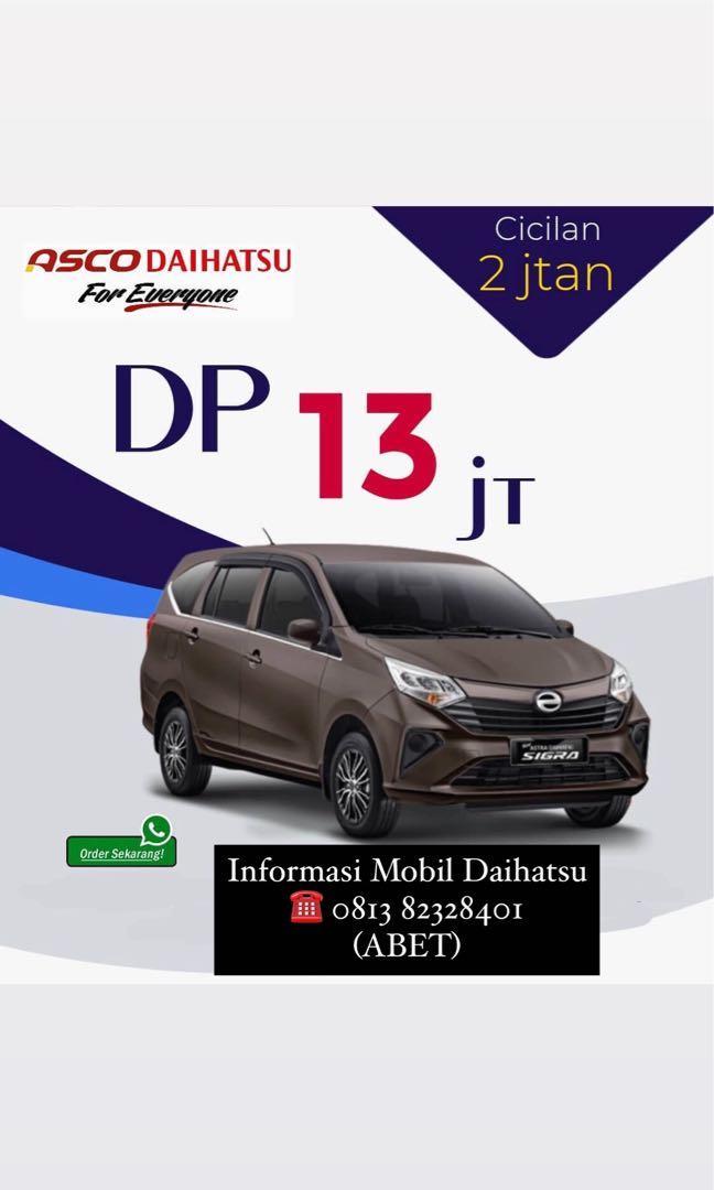 ANGSURAN MURAH Daihatsu Sigra mulai 2 jutaan. Daihatsu Fatmawati