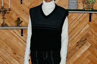Black Oversized Vest