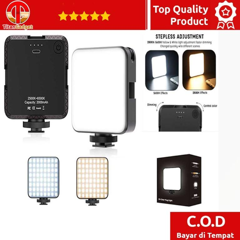 Flash Kamera DSLR Dimmable 2500K - 6500K 64 LED - W64 Titangadget