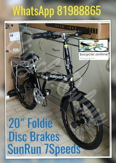 """FOREVER 20"""" Foldies / Foldable / Folding Bike ✩ 7 Speeds ✩ compact, fits nicely into car boots! ✩ allowed on public transport ✩ Brand New Bicycle"""