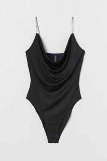 H&M sparkly strap bodysuit
