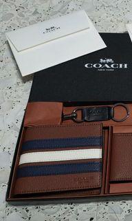 Instocks 3 in 1 Coach Men's Wallet Gift Set