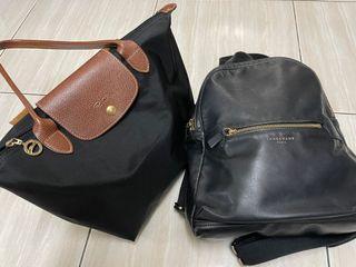 LONGCHAMP後背包+經典款(2個一起賣)