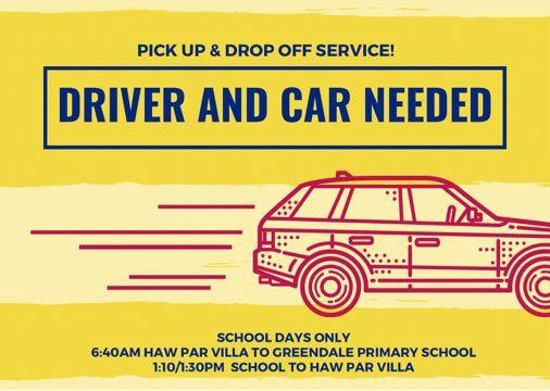 Looking for pick up drop off service