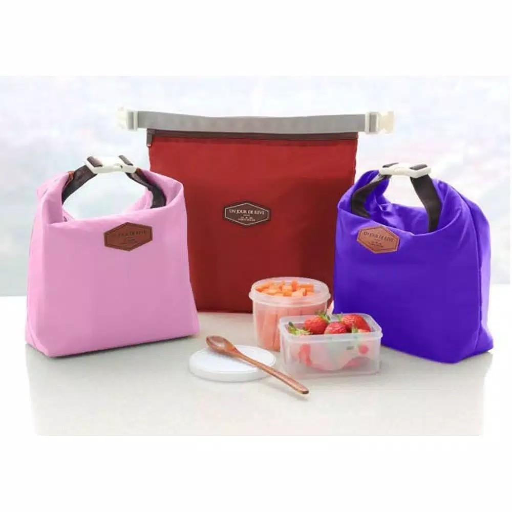 Lunch Cooler Bag Iconic Insulated Lunch Bag / Tas Bekal Makanan Tahan Panas Dingin