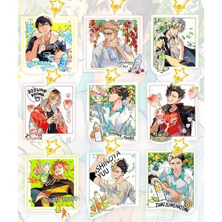 [PO] Haikyuu Haikyu HQ Badge Keychain Postcard Set