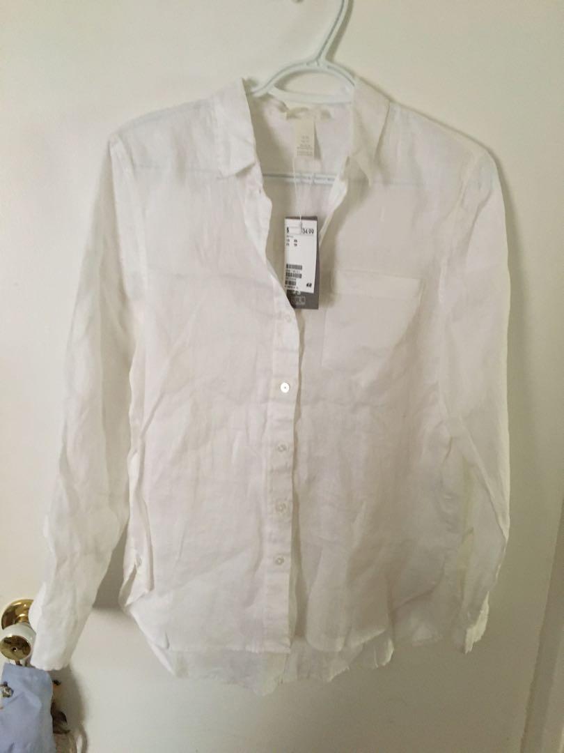 100% linen blouse