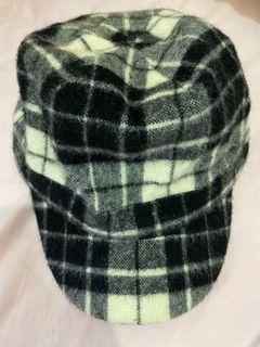 格子造型毛帽