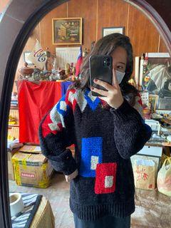 【二手/實穿】幾何古著毛衣