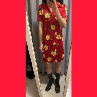 古著玫瑰紅色洋裝 🌹