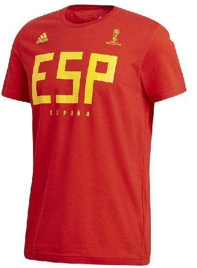 Adidas Men's Spain World Cup Soccer T Shirt (Size Large)