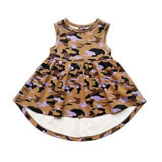 Anarkid Organic Girls Brown Camo Sleeveless Dress (Premium Australian Eco-Friendly Label)