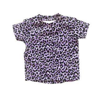 Anarkid Organic Kids Leopard Lilac Short Sleeve Tee / Bike Pants
