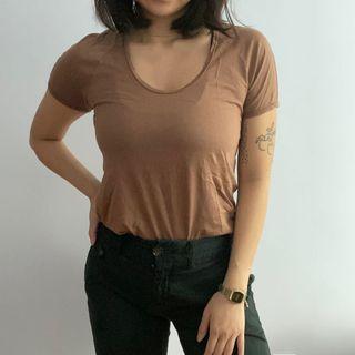 Aritzia Wilfred Brown Tshirt