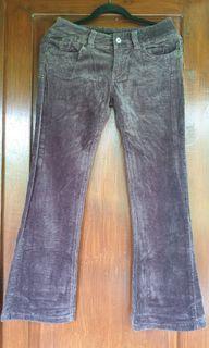 Corduroy Guess celana vintage