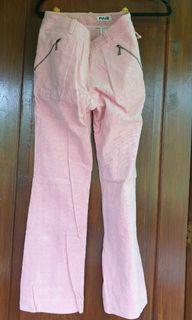 Corduroy Ping warna pink