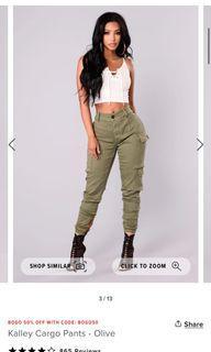 Fashion nova army green cargo pants