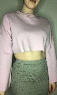 Lilac Sweater Crop Top