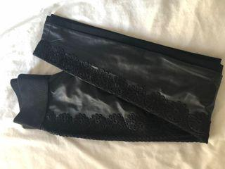 Nygard faux leather leggings, size S