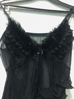lingerie hitam lucu sexy dress