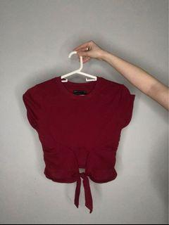 Red Tied Top - Urban Outfitters