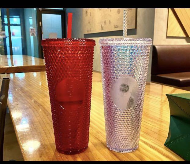 Starbucks Studded Cups ( Aurora/ Unicorn + Red)