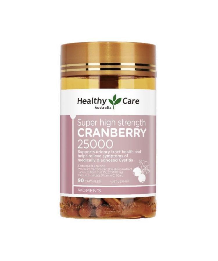 現貨] 90粒Healthy Care Cranberry 25000 強效蔓越莓25000, 美容&化妝品, 頭髮護理, 沐浴& 身體護理-  Carousell
