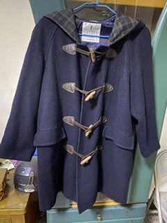 牛角扣 羊毛 大衣