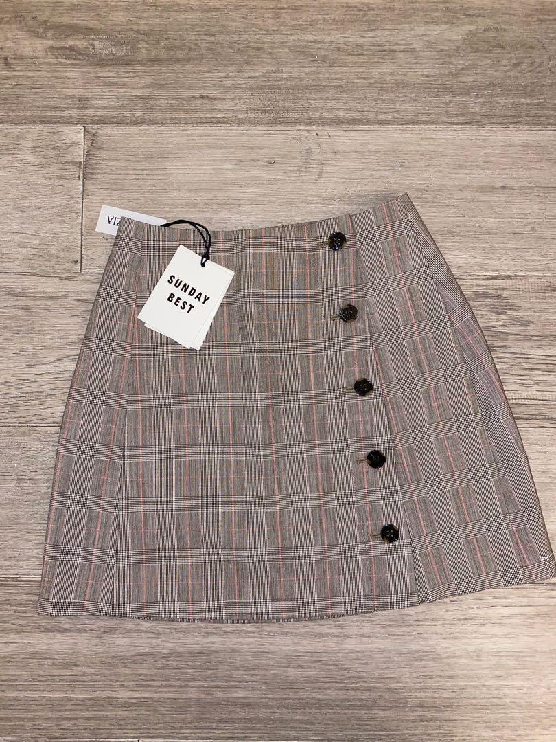 Aritzia plaid skirt