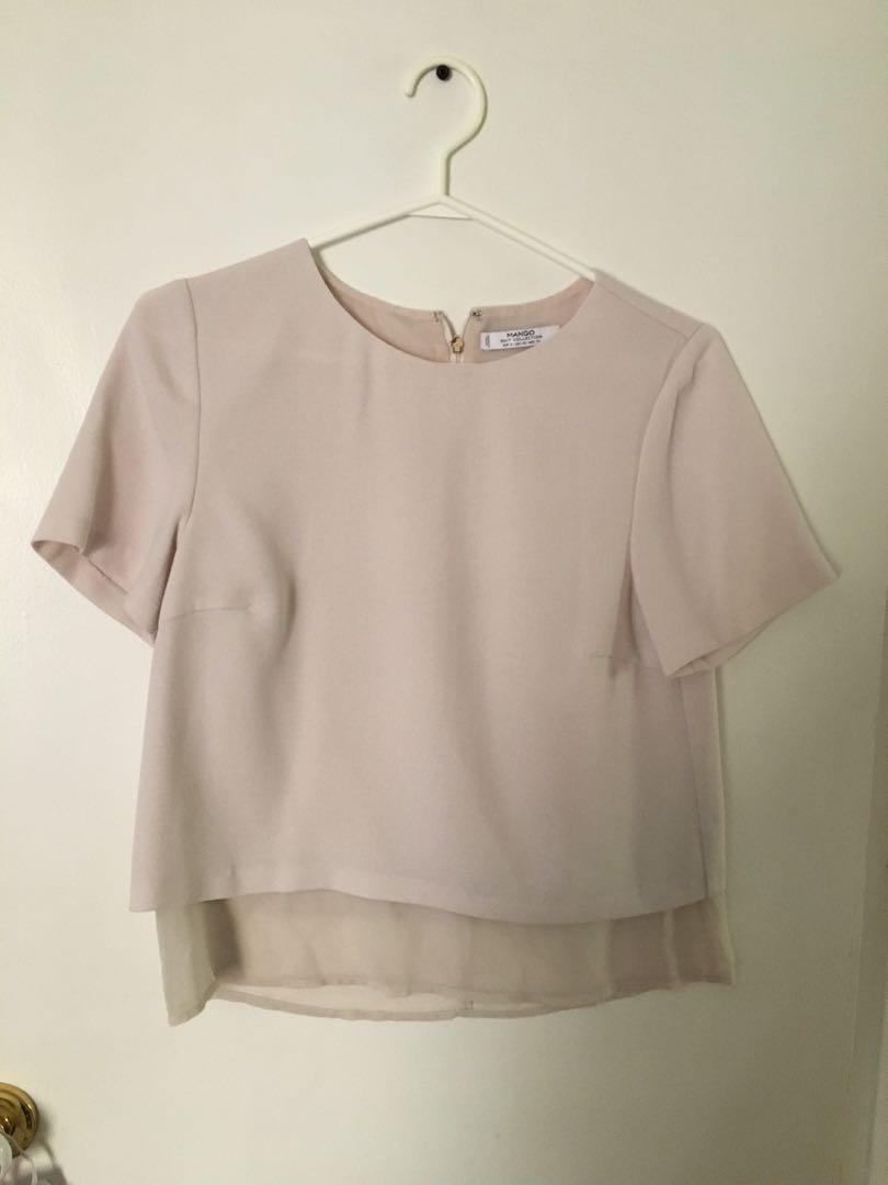 Blush pink Mango blouse