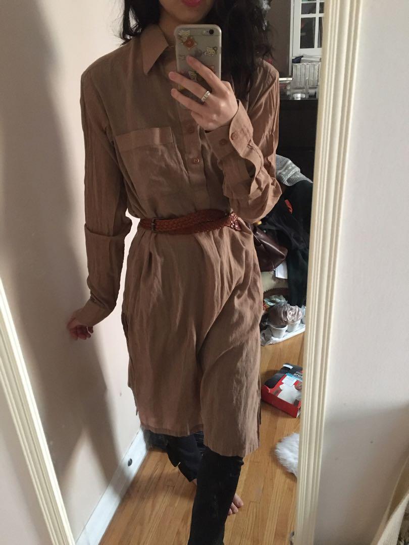 Bnwot linen tunic dress