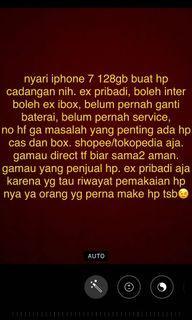 dicari iphone 7 128gb second ex pribadi