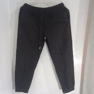Fashion Garterized Black Trouser Pants