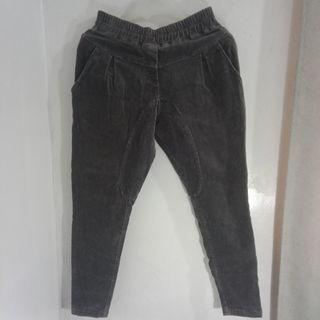 Fashion Garterized Corduroy Trouser Pants