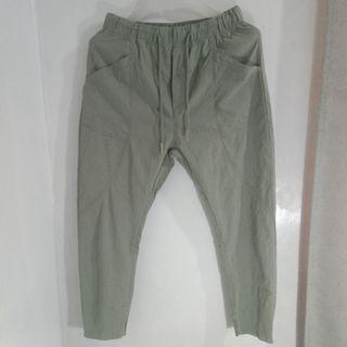 Fashion Garterized Olive Trouser Pants