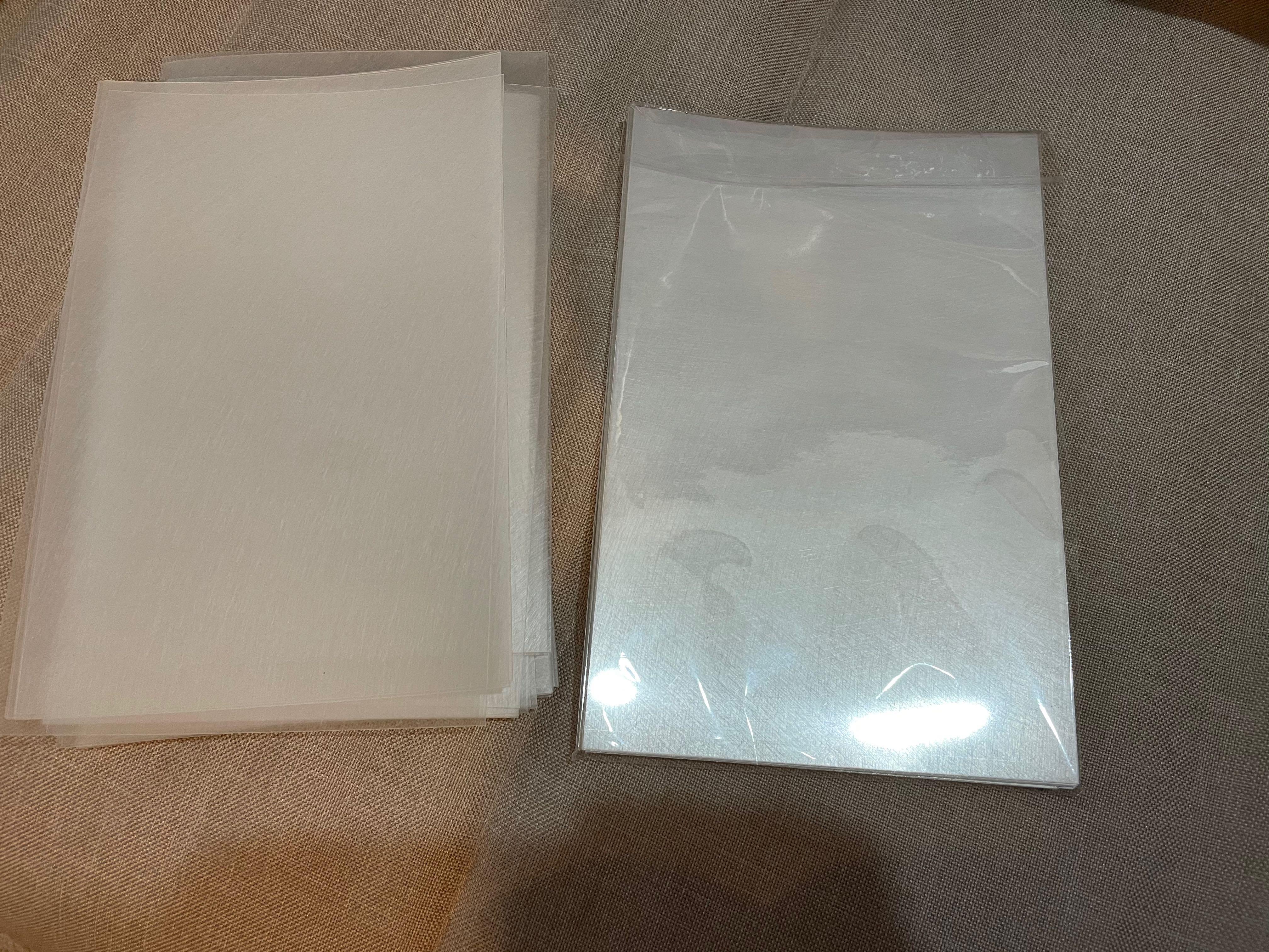 """Graffix 50 sheet sanded shrink film embellishment 8-1/2 by11"""", clear"""