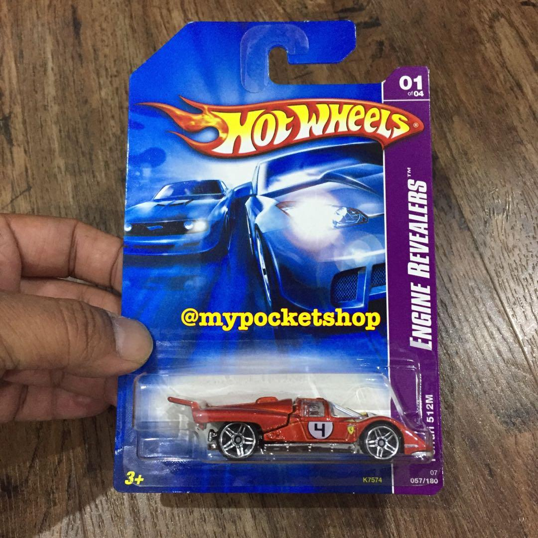 Reserved Hot Wheels Ferrari 512m Red 2007 Hotwheels Engine Revealers Toys Games Others On Carousell