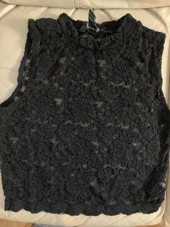 Lace see-through top size M $3
