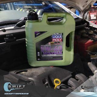 Liqui Moly Molygen 5W40 Engine Oil Car Servicing