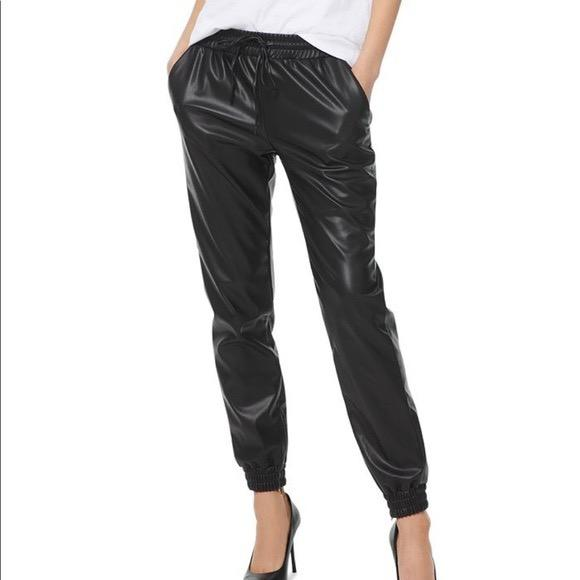 Michael Kors Leather Joggers