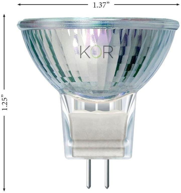 20 Watt MR11 GU4 Halogen Bulbs with Cover Glass 12V 20W FTD 2-Pin Lamp