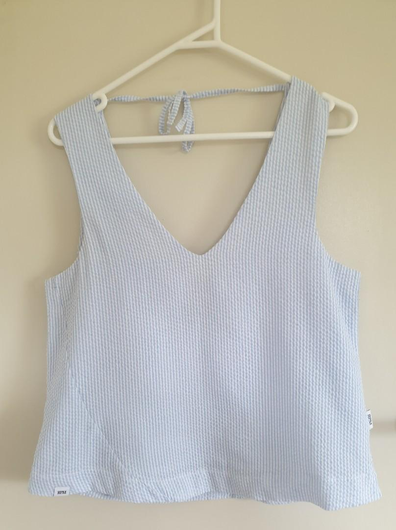 Rpm white & blue top