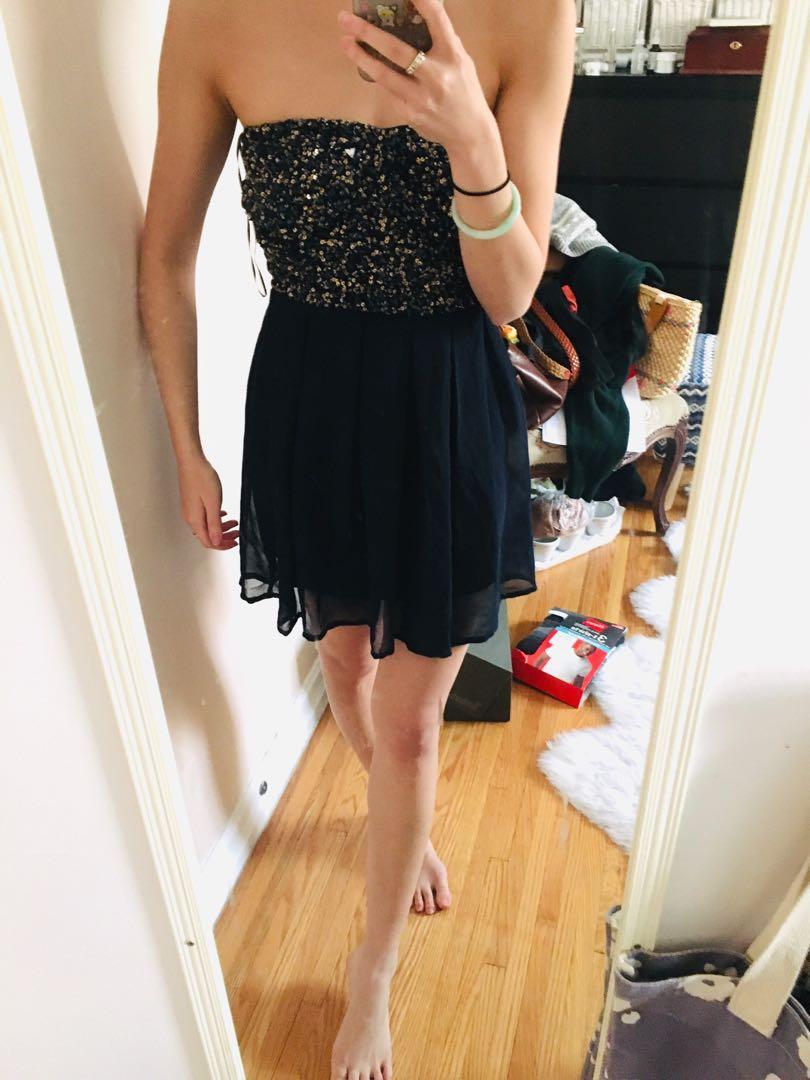 Sequin chiffon dress