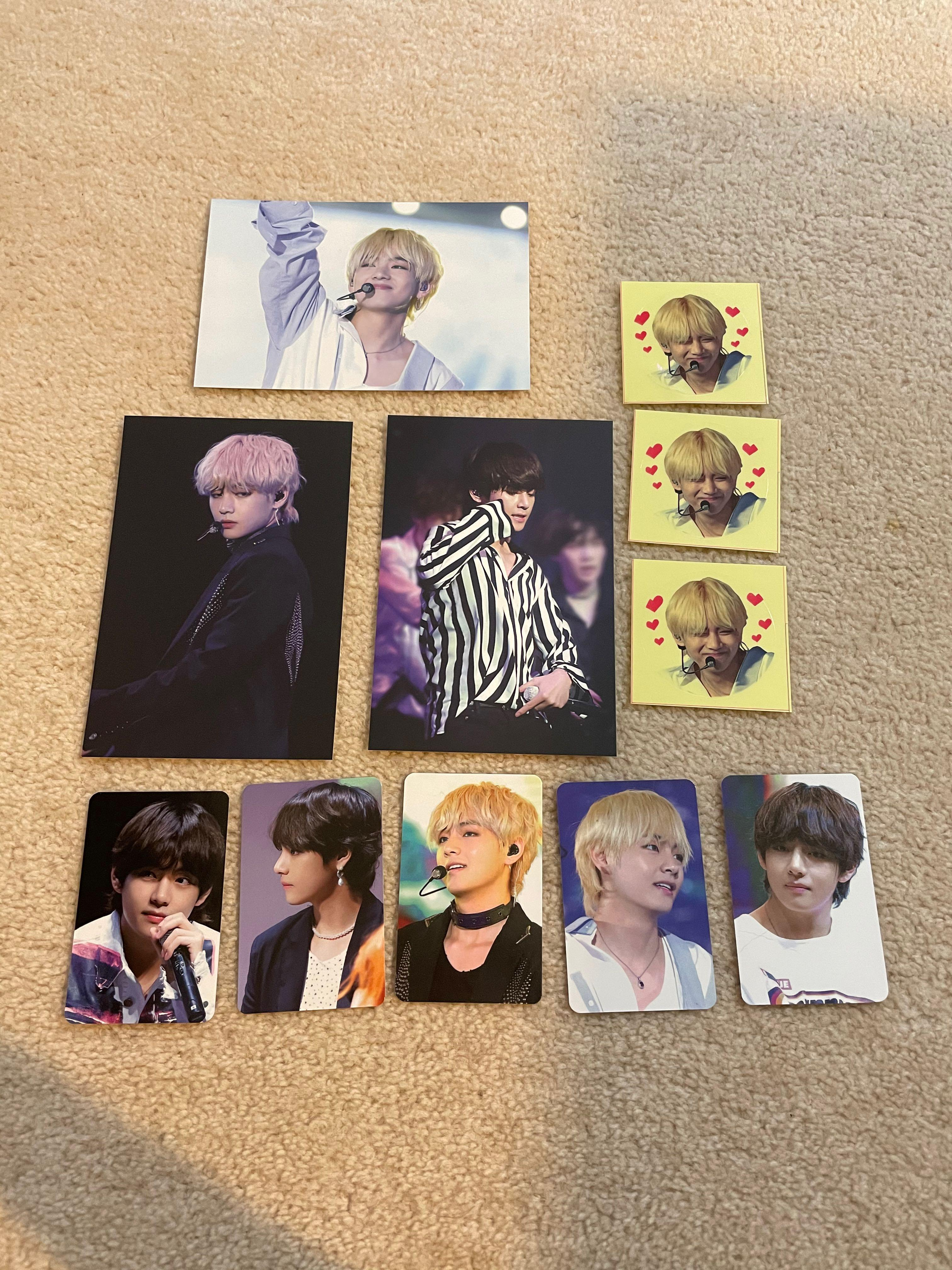 Unofficial BTS photo cards and stickers