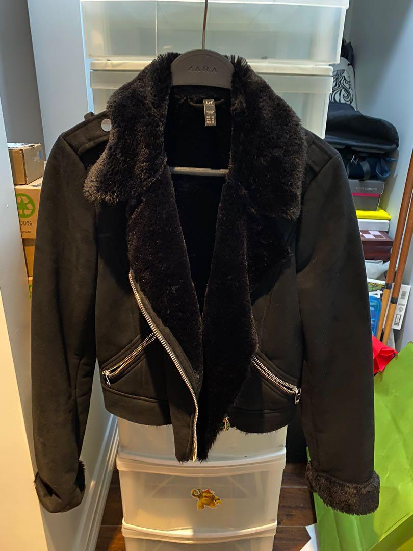 ZARA TRF Suede Jacket