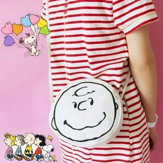 查理布朗日系可愛側背包#女裝賣家