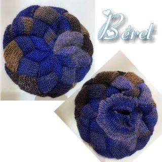 手工織貝蕾帽-自家手工織自製-》滑