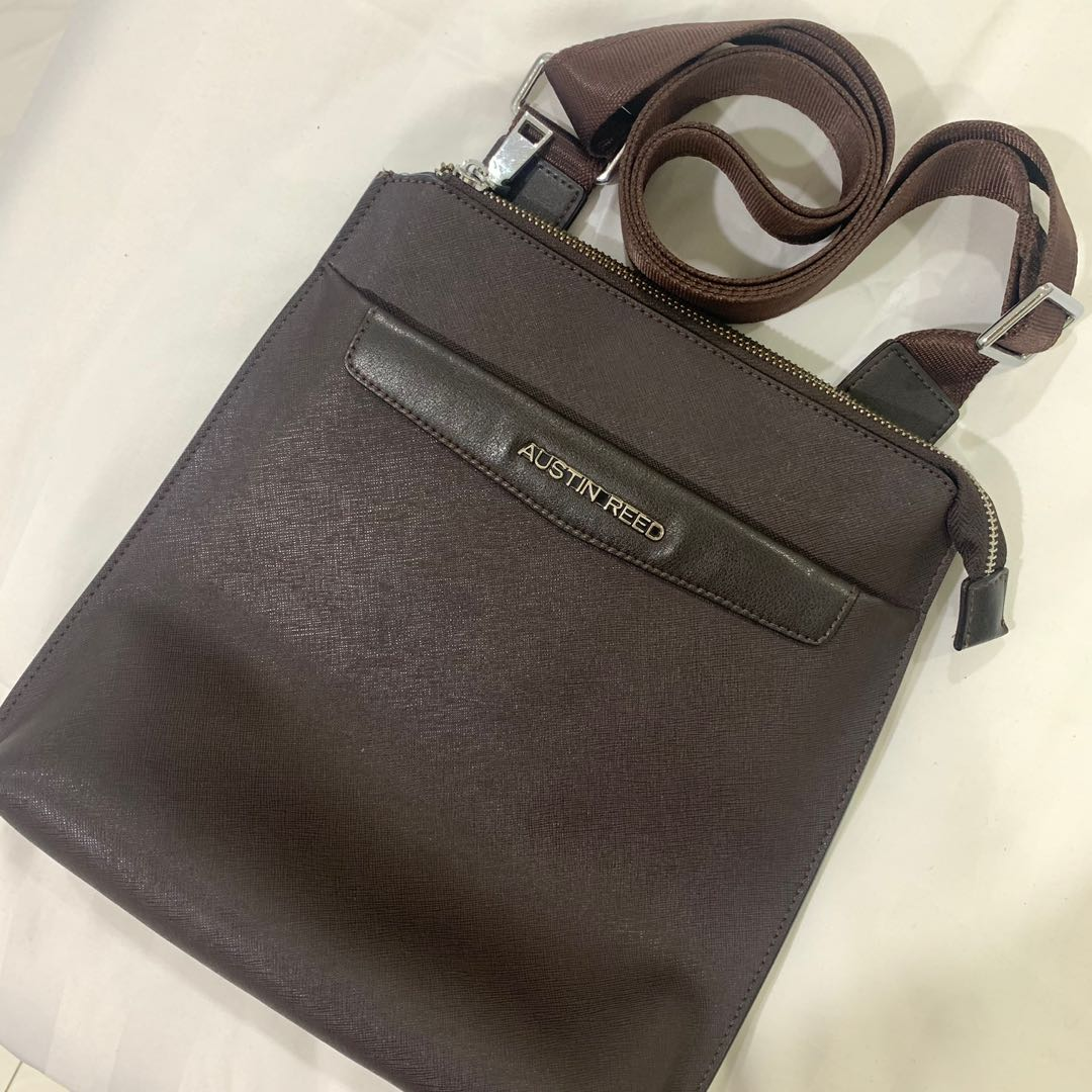 Austin Reed Sling Bags Brown Men S Fashion Bags Wallets Sling Bags On Carousell