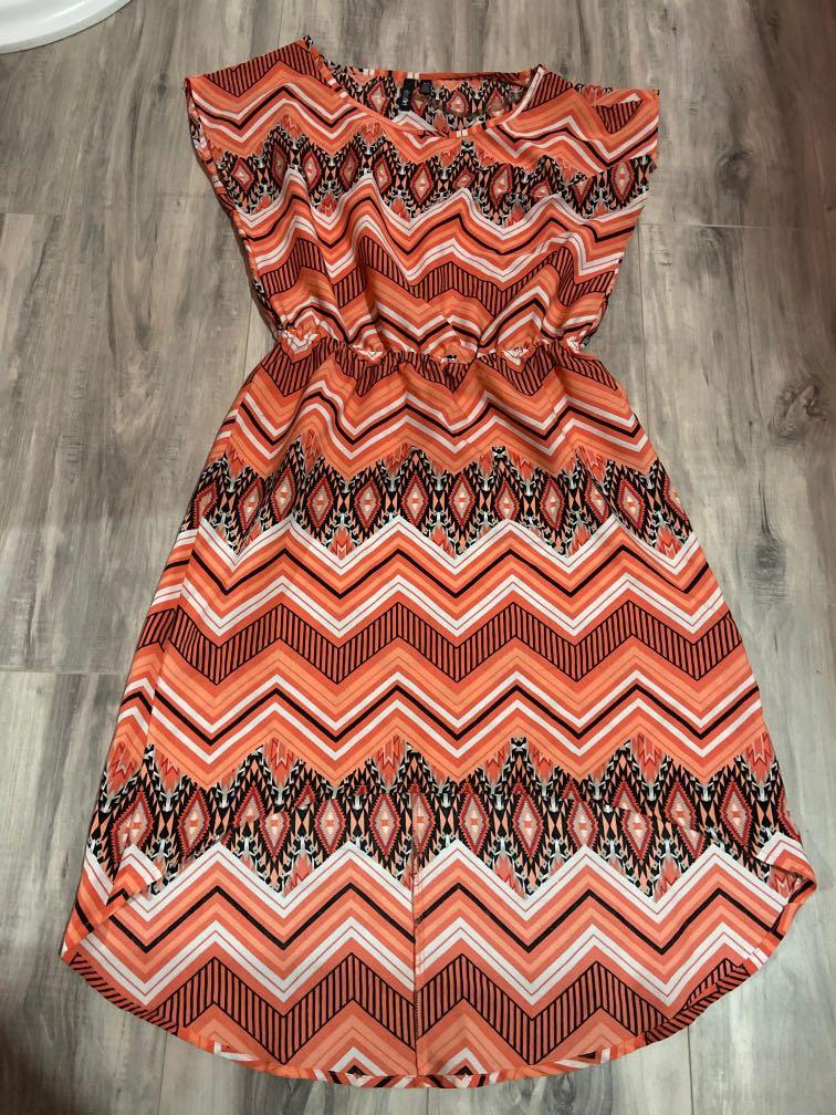Coral coloured dress