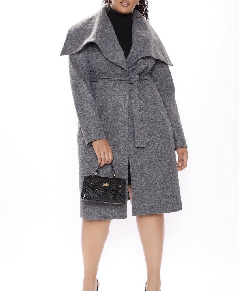 Fashion Nova L Walking in the Snow Trench Coat